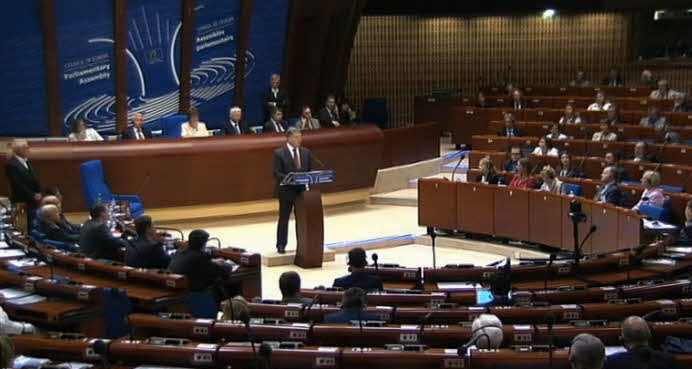 Speech of President of Ukraine Petro Poroshenko at the PACE session