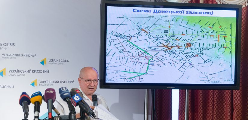 Mykola Topchiev: the damaging of the railway infrastructure in the ATO-zone causes material losses to Ukrainian economics