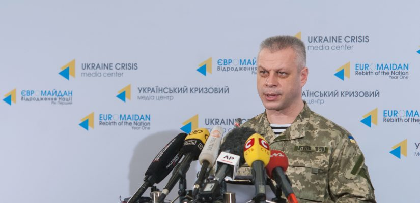 Andriy Lysenko: Ukrainian military destroyed a tank and neutralized around 60 militants
