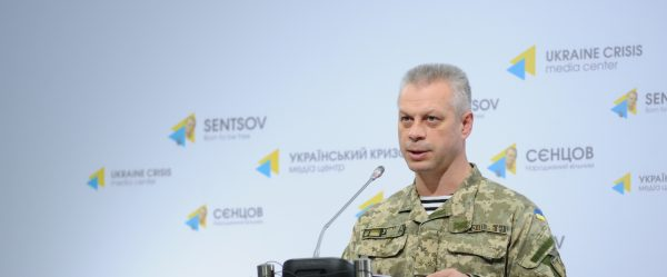 Defense Ministry: Militants were shelling Ukrainian positions in Stanytsia Luhanska over three hours non-stop