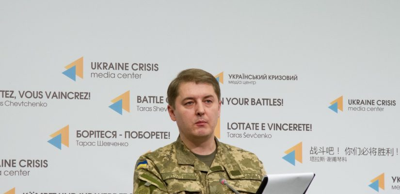 Colonel Oleksandr Motuzyanyk: Militants unsuccessfully attack ATO troops' position in the Mariupol sector