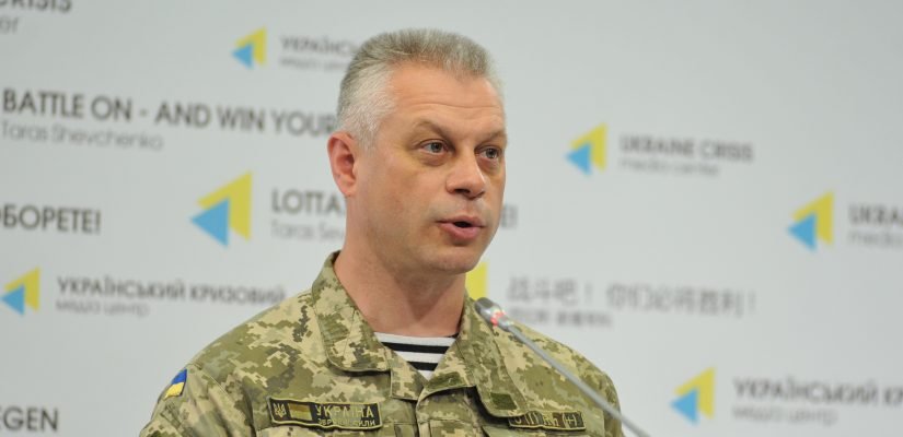 Colonel Andriy Lysenko: Militants use 152-mm artillery in Sionitnyi, Talakivka and Krasnohorivka
