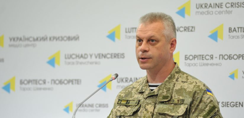 Colonel Andriy Lysenko: Situation escalates in Luhansk sector, militants launch 52 mortar shells