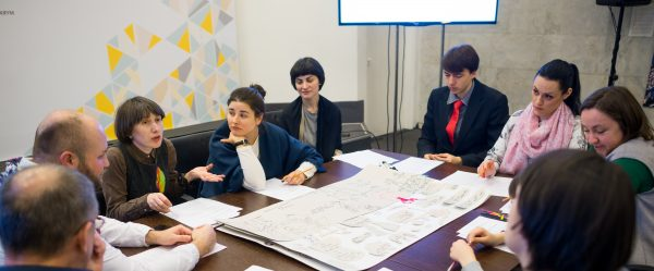 Artist Alevtyna Kakhidze proposes design for school roll-ups on citizenship education