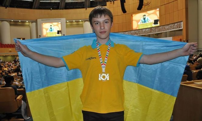 Ukrainian schoolboy wins gold at the international computer science olympiad in Iran