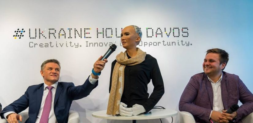 Ukraine at Davos: corruption, new technologies and Sophia the robot