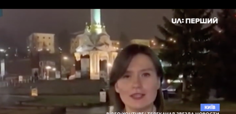 Television crew of Russia's propagandist channel on visit to Kyiv